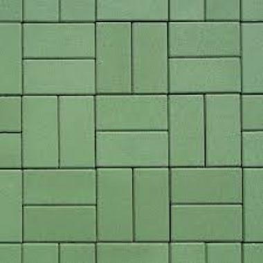 Плитка тротуарная, зеленая