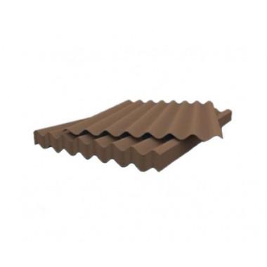 Шифер 7 волновый коричневый