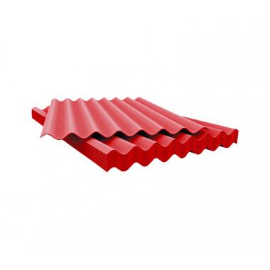 Шифер 7 волновый красный