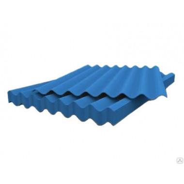 Шифер 7 волновый синий