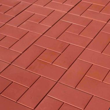 Плитка тротуарная, красная