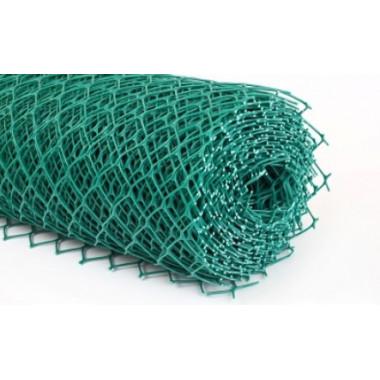 Сетка пластиковая ромб 30х30, 1,6х25 м, зеленая